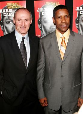 Colm Feore and Denzel Washington at the after party for the &quot;Julius Caesar.&quot;